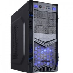 CAIXA ATX GAMING HALFMMAN HLF-CT-11ABU BLACK / BLUE