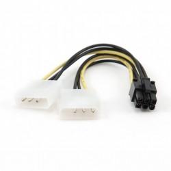 Cabo de alimentação Gembird Molex 4pin para PCI Express 6pin 0.15m CC-PSU-6