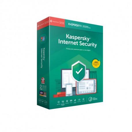 Software Kaspersky Internet Security 2019 4 Utilizadores 1 Ano - Edição Especial