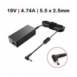 Carregador Toshiba / Asus 19V 4.74A 90W 5.5*2.5 c/ Cabo TGADT4 Compativel