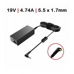 Carregador Acer / Packard Bell 19V 4.74A 90W 5.5*1.7 c/ Cabo TGADM3 Compativel