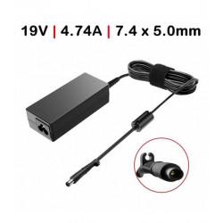 Carregador HP 19V 4.74A 90W 7.4*5.0 c/ Cabo TGADH3 Compativel