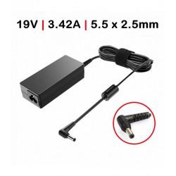 Carregador Toshiba / Asus 19V 3.25A 65W 5.5*2.5 c/ Cabo TGADT2 Compativel