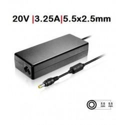 CARREGADOR Compatível Fujitsu 20V 3.25A 5.5X2.5 TG7332
