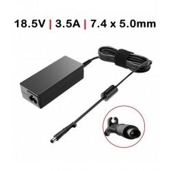 CARREGADOR Compatível HP 65W / 18.5V / 3.5A / 7.4X5.0mm