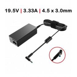 CARREGADOR HP 65W 19.5V 3.33 4.5X3.0 + pin Compatível