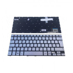Teclado Samsung S/ Moldura NP730U3E NP740U3E Retroiluminado Prata TGTSAMS009
