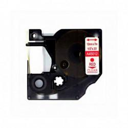 Fita Compatível Dymo D1 45012 - 12mm x 7 metros Vermelha/Transparente S0720520