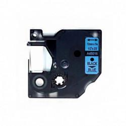Fita Compatível Dymo D1 45016 - 12mm x 7 metros Preto/Azul S0720560