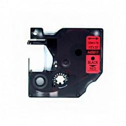 Fita Compatível Dymo D1 45017 - 12mm x 7 metros Preto/Vermelho S0720570