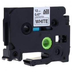 Fita Laminada Compatível Brother TZE-241 - 18mm x 8 metros Preto/Branco