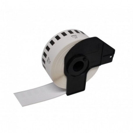Etiquetas Compativeis Brother DK22210 Branca - 29mm x 30.48mm Contínua Papel térmico