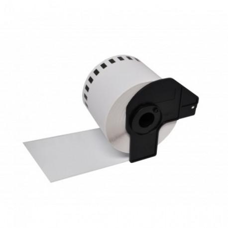 Etiquetas Compativeis Brother DK22205 Branca - 62mm x 30.48mm Contínua Papel térmico