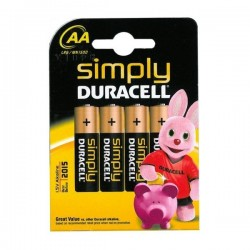 DURACELL SIMPLY AA 4 PACK MN1500B4S