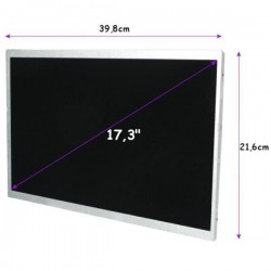 "DISPLAY LCD 17.3 ""(CCFL) 1920x1080 GLOSSY, Full HD-40pin"