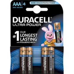 DURACELL ULTRA POWER AAA 4 PACK MX2400B4