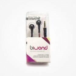 Auriculares Biwond MixSou Preto