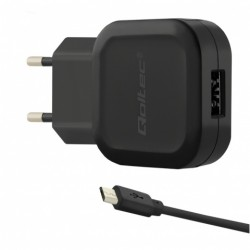 Power Adapter Mobile 12W 5V 2.4A 1xUSB + MicroUSB - 50183