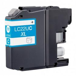 Tinteiro Brother Compatível LC22U C XL Azul