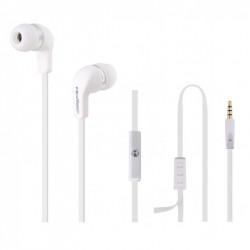 Fones de Ouvido Intra-Auriculares microfone branco TG50801